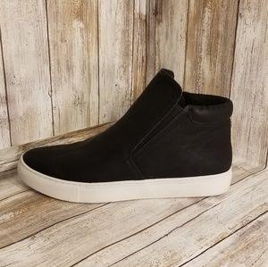 Kenneth Cole Reaction Black Slip On Sneakers Sz 8
